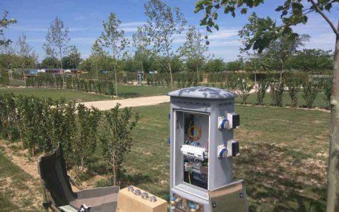 Fibra óptica FTTH en los bungalows del camping Las Dunas