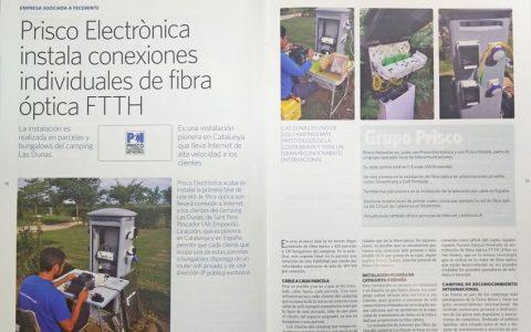 Reportaje de Feceminte sobre la fibra óptica del Camping Las Dunas