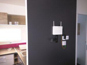 Fibra óptica FTTH fins al bungalou instal·lada per Prisco electrónica.