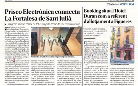 Prisco Electrònica assegura les comunicacions de La Fortalesa