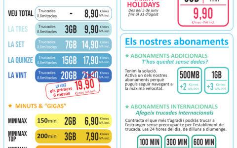 Noves tarifes de telefonia de Prisco mòbil