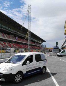 Fórmula 1: Prisco Electrónica trabajando frenéticamente para tener a punto el Circuit de Catalunya para el Gran Premio de este fin de semana.