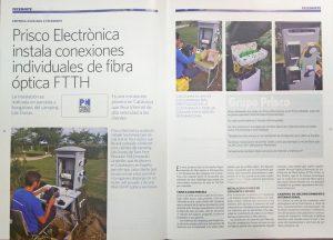 Prisco Electrónica ha instalado fibra óptica FTTH en parcelas y bungalows del Camping Las Dunas y la revista Feceminte le dedica un reportaje.