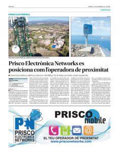 Prisco Electrónica Networks se posiciona como la operadora de proximidad y mejora la ratio de cobertura de telefonía móvil