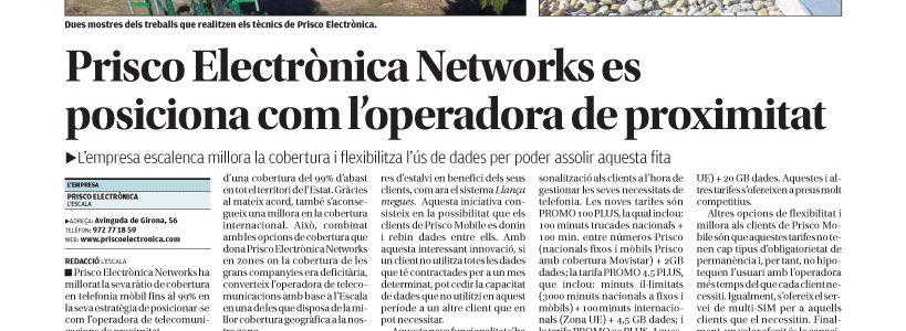 Prisco Electrónica Networks mejora su ratio de cobertura en telefonía móvil