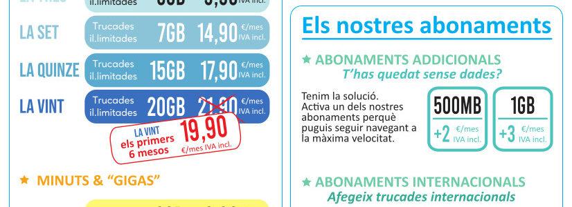 Nuevas tarifas de Prisco Mobile